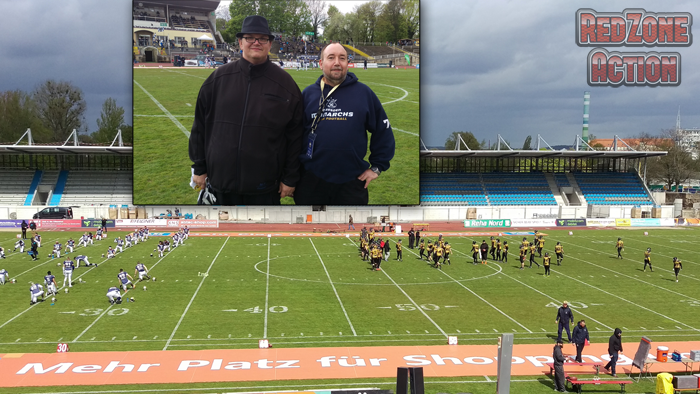 Dresden Monarchs vs Würzburg Panthers, Stefan and Pete